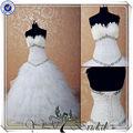 jj3527 pesadas rebordear boda pluma dresseschina por encargo de la boda vestido hecho en china