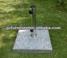 sombrilla de jardín base de granito pulido