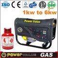 Reserva para el hogar china precio de fábrica 2 2.5 kva kva kva 2.8 generador de gas natural para la venta con buena calidad