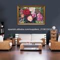la pintura con acrílico rosas
