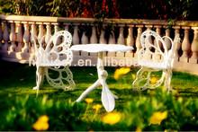 personalizadas muebles de jardín de aluminio establece mesa y sillas de exterior