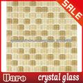 China la decoración piso color beige mosaico de vidrio de cristal