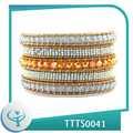 2014 moda artesanal envoltório cordão de couro pulseira traje suprimentos jóias direto por atacado da porcelana