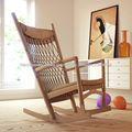silla pp124 por hans j wegner la mecedora de madera maciza sillón