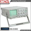 Osciloscopio OS-3100g, 100 MHz de frecuencia del osciloscopio de lectura digital, doble canal cuatro huellas, osciloscopio USB,