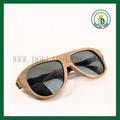 óculos de bambu colorido polarizado