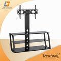 vidro e metal tv stands com suportes universal