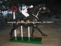caballo de bronce con el deportista
