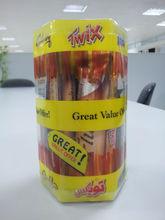 personalizado caja transparente hexagonal de chocolate envases con tapa de la ampolla