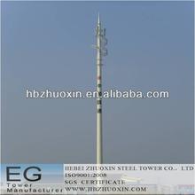 octogonal de telecomunicaciones gsm comunicación de acero del poste de la torre