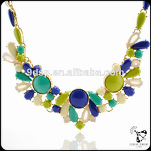 El último diseño único estilo bohemio de la moda collar de la joyería, collares de cristal de la joyería
