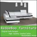 moderna sala de estar sofás blancos y negros en Shen Zhen fabricante de muebles
