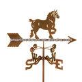 Acero caballo weathervane/veleta de metal