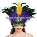 pluma máscara mascarada para el carnaval
