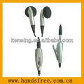 Excelente qualidade de telefone celular fone de ouvido com 3.5mm adaptador feminino e silicone tampão da orelha