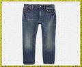 Los chicos 100% de algodón botas de corte recto lavada con ácido fresco pantalones de jean
