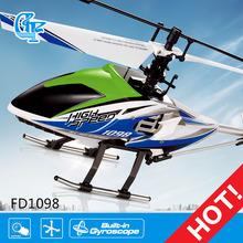 Fd1098 halcón negro 4ch 2.4g helicóptero del rc modelo v913