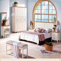 Solid pranchas de carvalho madeira maciça branco lacado criado-mudo móveis de vime de venda