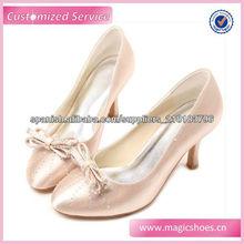 rosa zapatos de vestir bowknot