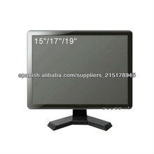 17 pulgadas monitor del cctv,bnc monitor para uso de seguridad