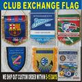 caliente la venta diferentes tamaño del club de fútbol de banderín de intercambio