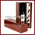 para el regalo de madera de vidrio de vino caja de vino con accesorios