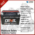 ytx9-bs bateria recargable 12v 8ah para la motocicleta / mejor precio 12v batería de la motocicleta