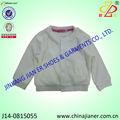 100% de algodón nueva llegada de otoño blanco estilo barato de bebé niña ropa