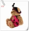 clásico juguete de la felpa oso de peluche falda para hacer punto y sombrero