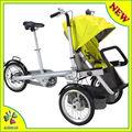 bicicleta madre y cochecito de bebé