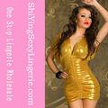 amarelo hip pacote de mulheres em mini saias de couro
