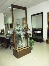 habitación decorativos paneles divisor cascada fuente para cascada de bambú