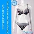 Impresión digital más tamaño de sujetador con cristal bikinis para mujeres