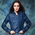 chaqueta de bombardero casaco de de couro, cremallera lateral clásicos de la moda más reciente las niñas chaqueta de cuero