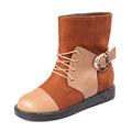 de moda de cuero de montar a caballo botas de tobillo hecho de las mujeres en turquía