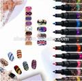 2014 nuevo de la marca de bricolaje 24 en color de alta calidad caliente- la venta pro diseño de uñas de arte de la pluma