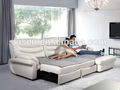 em forma de l sofá reclinável rústico sofá de couro