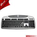 Venta caliente multimedia mecánica multiidioma usb/ps2 con cable del teclado de computadora