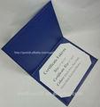 2015 personalizada de cuero negro certificado folios\holders\folders diploma de cubierta para la universidad de varios colores