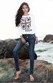 la mujer nueva llegada 2013 jeans de corte