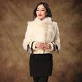 Nuevos productos de invierno 2014 real de la moda de piel de zorro abrigo para las mujeres c2-13009