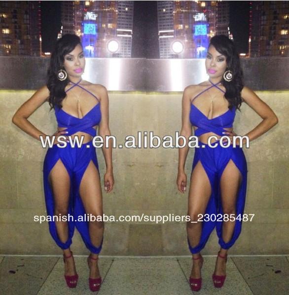 km026 2014 reciente venta caliente nueva llegada de la última sexy vestido azul