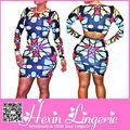 china 2014 nuevo de alta cintura para damas oficina patrón geométrico de impresión vestido más el tamaño de ropa las mujeres