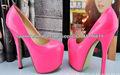 2013 elegante tacón de aguja de la plataforma de las señoras zapatos de tacón alto