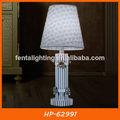 El estilo de país de tela cubierta de la lámpara junto a la cama de hierro forjado lámpara de mesa hp-62991