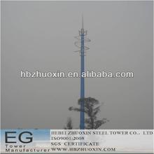 de telecomunicaciones octogonal de acero gsm comunicación torre monopolo