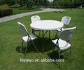 Silla de plástico y mesa redonda ya-t026