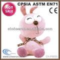 7 pulgadas de color rosa de conejo de peluche juguetes para los niños