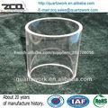 Tube de four fusion en verre quartz