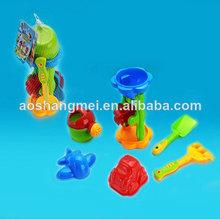 8 piezas de plástico de playa verano juguetes herramienta con el coche de la promoción